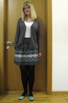Promod - tezenis top - Promod skirt - Calzedonia tights - Dei colli shoes