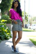 blouse - skirt - sneakers