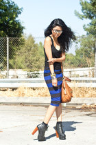 Forever 21 skirt - litas Jeffrey Campbell boots - tank top Forever 21 top