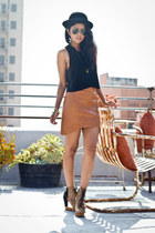 animal print Jeffrey Campbell boots - tawny leather skirts Kahlo skirt