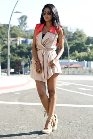 trench vest Lush Clothing vest - Aldo wedges - Society Wears ring