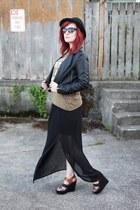 black bowler H&M hat - black Love Culture jacket