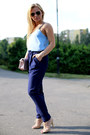 Light-pink-romwe-bag-light-blue-dorothy-perkins-top-navy-romwe-pants