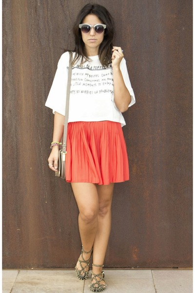 skirt - shoes - shirt - sunglasses