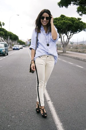 Zara jeans - Sfera bag - Burberry blouse