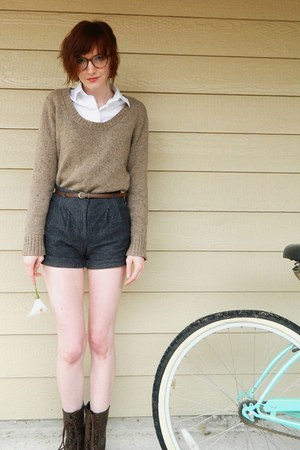 merona sweater - cato boots - Forever 21 shorts