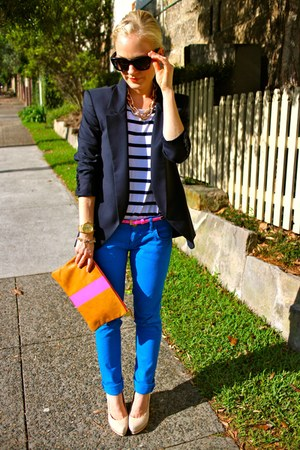 Current Elliott jeans - Theyskens Theory blazer - Mulberry heels