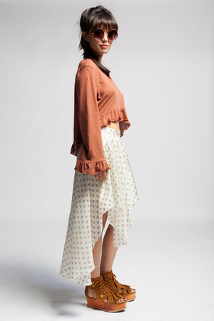 draped skirt Aryn K Spot Silk Skirt skirt