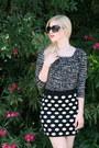 Black-square-lucy-mint-sunglasses-black-polka-dot-forever-21-skirt