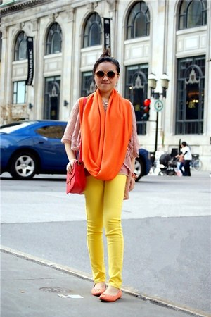 carrot orange American Apparel scarf
