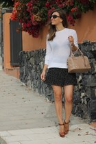 H&M skirt - Zara sweater - Christian Louboutin sandals