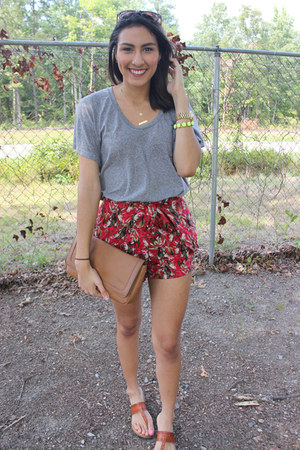 heather gray Urban Outfitters shirt - Charlotte Russe sunglasses