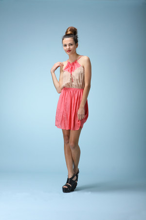 coral West 36th dress