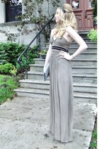 silver BCBG dress