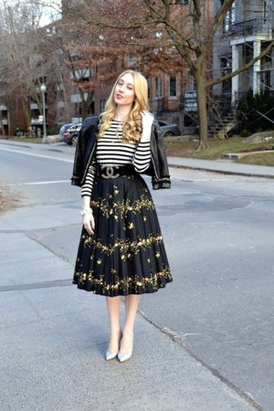 black Forever 21 jacket - black Joe Fresh shirt - black vintage skirt