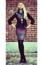 deep purple herve leger dress - black Poleci blazer