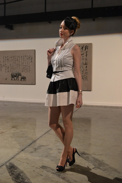 black Chanel bag - black asos skirt - black Christian Louboutin heels