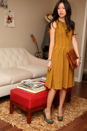 Anthropologie dress - Marc by Marc Jacobs bag - YSL heels
