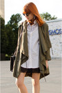 Dark-khaki-parka-asos-coat-white-shirt-black-lace-slip-asos-intimate