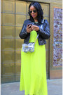 Silver-zara-bag-yellow-victorias-secret-dress