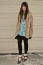 Brown-h-m-shoes-camel-vintage-fur-jacket-sky-blue-beacons-closet-dress-bla