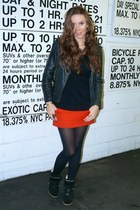red Maje skirt - black Isabel Marant sneakers