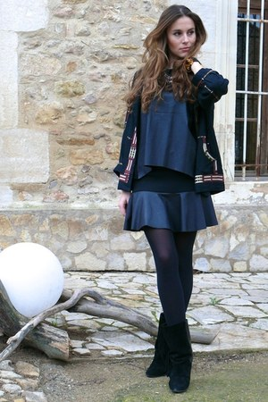 Isabel Marant boots - Isabel Marant jacket - Zara skirt