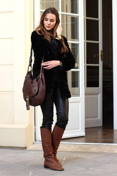 Chanel boots - SANDRO bag
