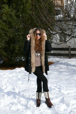 Maje coat - Zara leggings