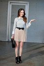Sam-edelman-boots-sequins-ted-baker-sweater-chanel-purse-pleats-f21-skirt