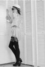 White-vintage-dress-black-vintage-belt-black-house-of-holland-tights-black