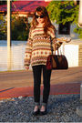 Brown-vintage-sweater-black-jeans-black-shoes-brown-vintage-bag-brown-su