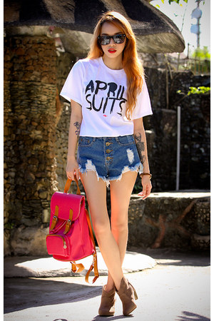 blue denim OASAP shorts