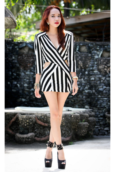 black stripe Love dress
