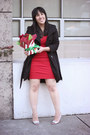 Red-basuto-diane-von-furstenberg-dress-black-princess-coat-steve-madden-jacket