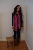 H&M shirt - H&M shirt - H&M pants - From India scarf - Minnetonka boots