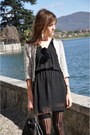 Black-zara-dress-silver-zara-jacket-black-stella-mccartney-bag