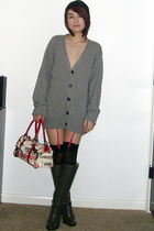Betsey Johnson stockings - Michael Kors boots - Forever 21 hat - dior purse