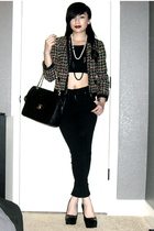 H&M blazer - Silence & Noise top - BDG pants - Chanel purse - Chanel necklace -