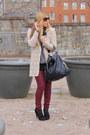 Ivory-vintage-jacket-heather-gray-h-m-trend-sweater