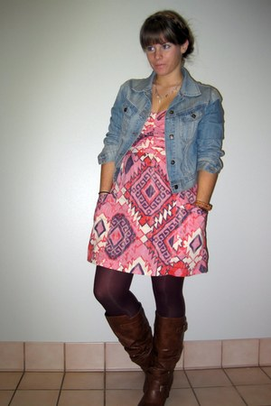 American Eagle dress - Madden Girl boots - jean Forever 21 jacket