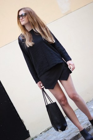 black Zara shorts - black Zara romper