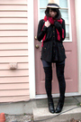 Black-payless-boots-black-american-apparel-socks-black-inc-from-macys-dress-