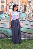 maxi skirt Forever21 skirt - cutout Primark top