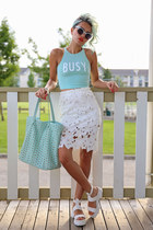 white Radpopsicles skirt - white Linzi shoes sandals