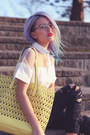 White-oasap-top-white-amiclubwear-wedges-ivory-coastalcom-glasses