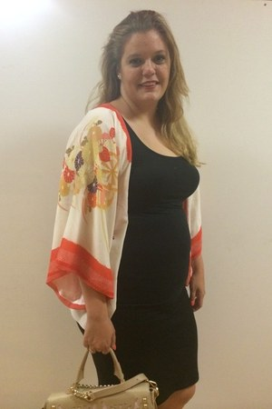 chiffon Zara jacket - leather alilovesyou bag - Zara skirt - H&M top