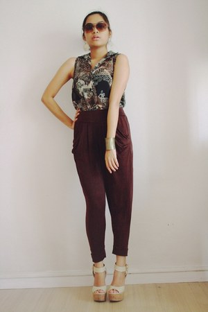 dark brown harem Bazaar pants