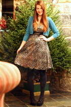 black sequined Quiz dress - black new look tights