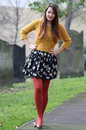 mustard George At Asda sweater - black worn as a skirt new look dress